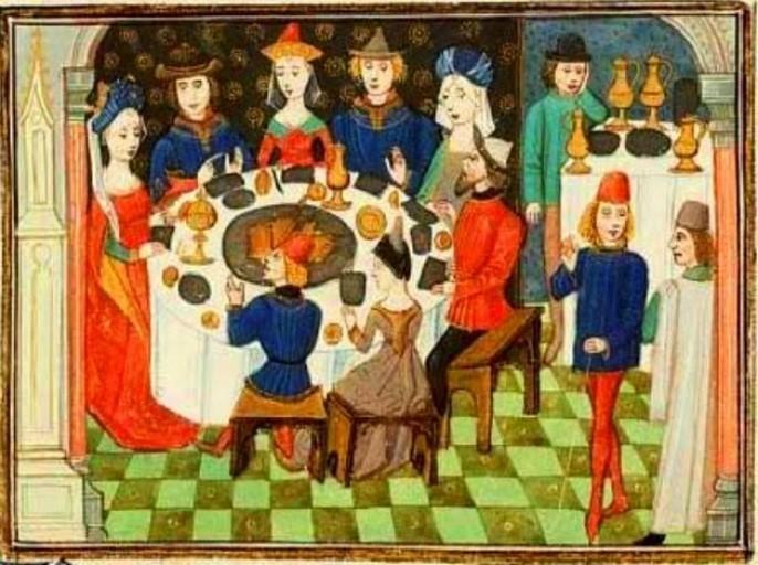 Cibo e accoglienza in epoca medievale