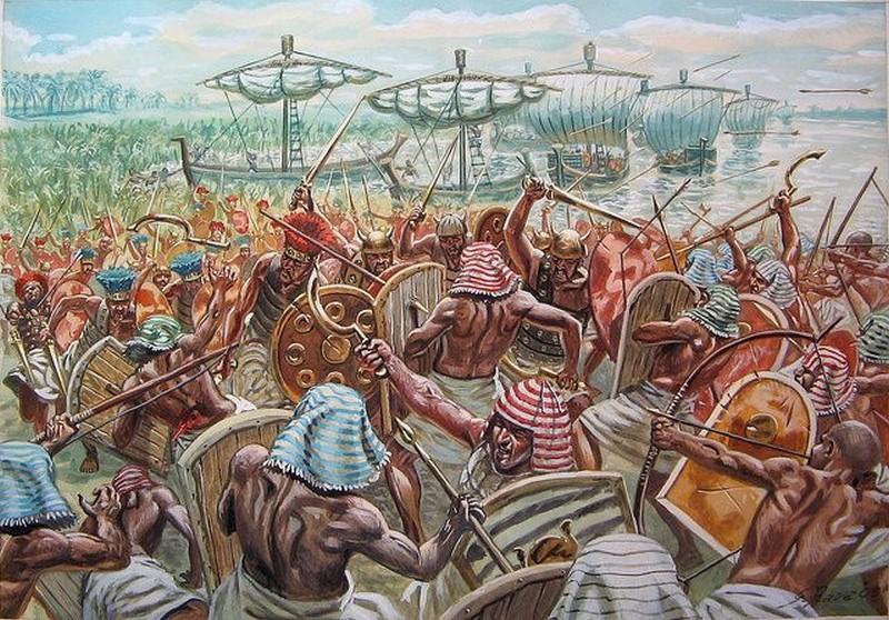 La battaglia del Delta del Nilo (1175 a.C.)