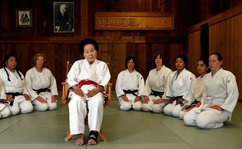 Fukuda Sensei. L'unica donna ad aver ottenuto il grado di Jūdan.