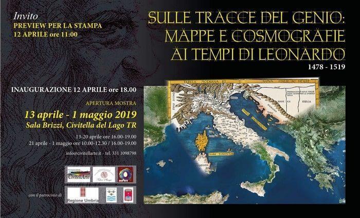 """Mostra """"Sulle tracce del genio: mappe e cosmografie ai tempi di Leonardo"""""""