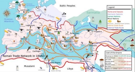 Rotte mercantili romane