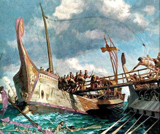 Battaglia navale nell'antica Roma