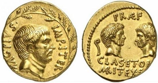 Monea aurea di Sesto Pompeo