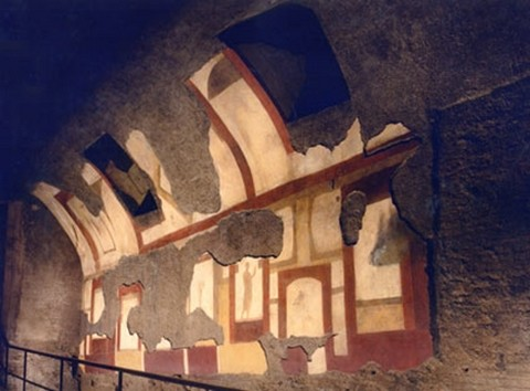 Cryptoporticus. Decorazioni a pannelli di età antonino severiana. Dettaglio