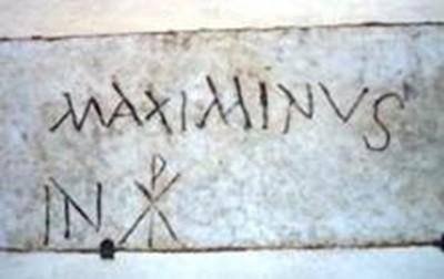 'Maximinus in Christo'. Portico basilica Santa Maria in Trastevere (Roma). Fine III secolo d.C. (?)