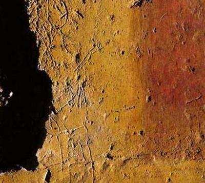Un graffito ritrovato nel criptoportico. Dettaglio
